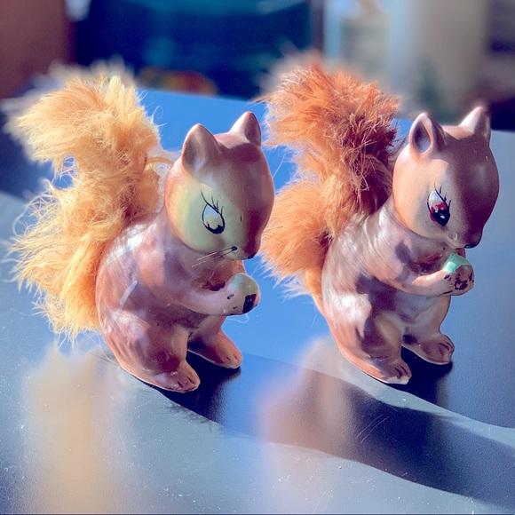 Vintage Squirrel Figurines, Japan